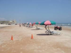 Beach 100 yards