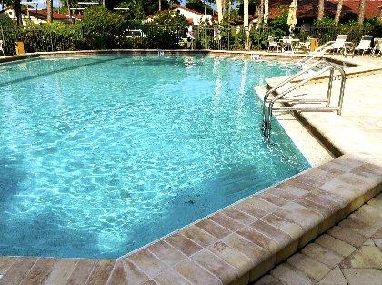 Large pool area.