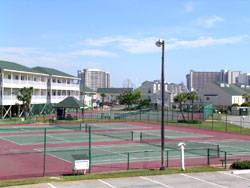 Lighted tennis court
