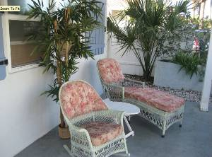 Wicker front patio