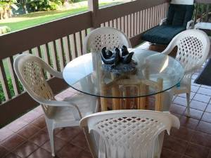 Lanai Glass Top