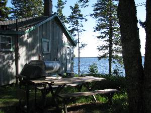 side view of camp