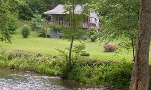 Cabin on creek