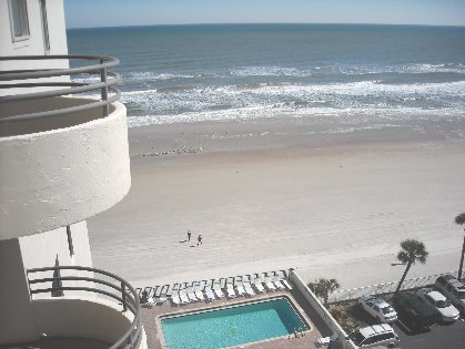 Beach from patio
