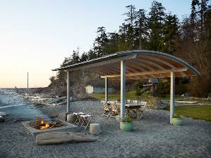 Beachfront shelter