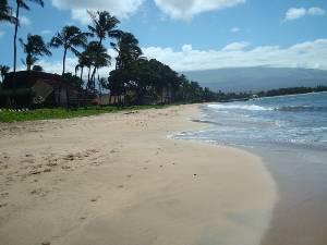 Actual sandy Beach