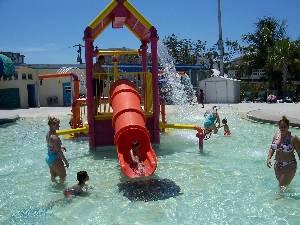 Beach water park!