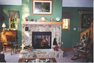 Cozy Fireplace in LR