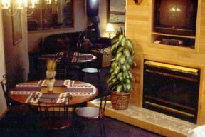 Gas fireplace/dining