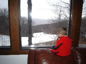 Watching the skiers