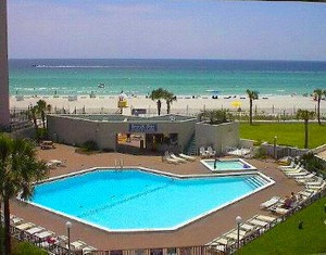 Pool & beach view