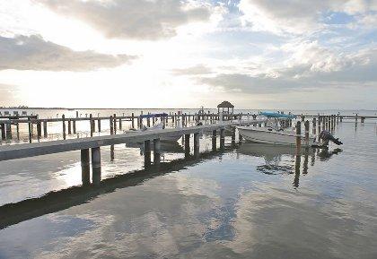 The dock at Moon Bay