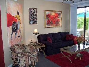 Front room with Art