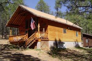 Mogollon log cabin