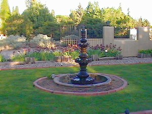 Fountain on Property