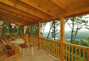 Spacious upper porch