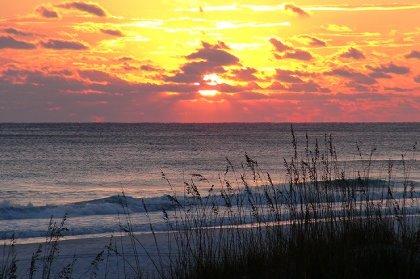 Sunset on our beach
