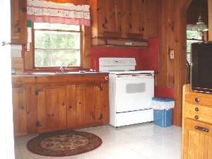 Kitchen in 2 BR at 1