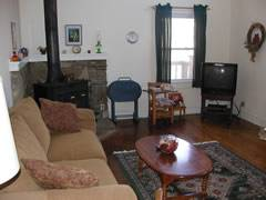 Living room w/fp
