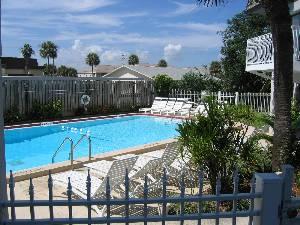 Gated heated pool