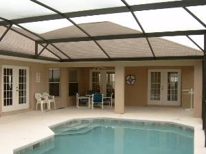 Pool, and shade area