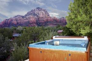 7453 sedona sedona villa rentals for Az cabin rentals with hot tub