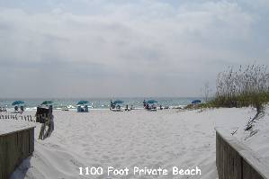 1100 Foot Gulf Beach