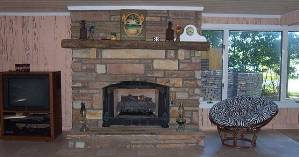 gas fireplace in gr