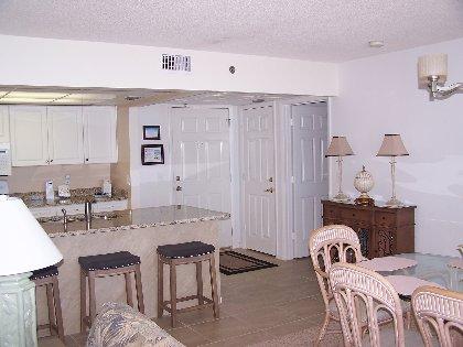 Foyer/open kitchen.