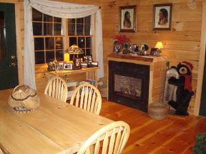 Dining room of cabin