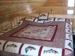 Bed in Upstairs Loft