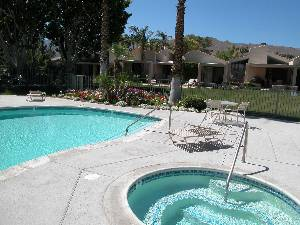 Pool area at condo
