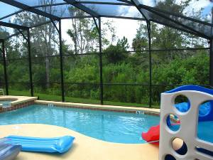 Kids fun villa pool