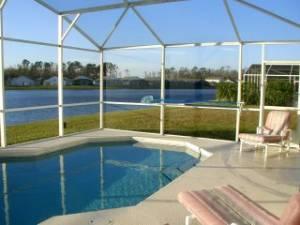 pool overlooking lak