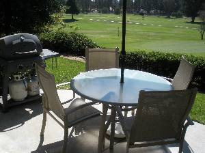Patio overlooking #9