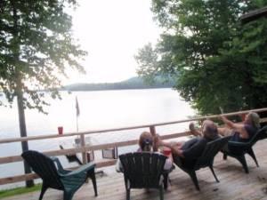 Lakefront Cabin Deck